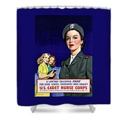 Ww2 Us Cadet Nurse Corps Shower Curtain