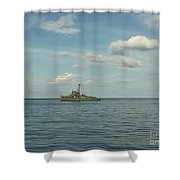 Ww2 Us Destroyer Shower Curtain