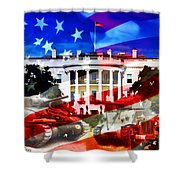 Ww2 Usa White House Shower Curtain