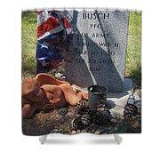 Ww2 Veterans Grave Mountain View Cemetery Casa Grande, Arizona 2004 Shower Curtain