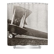 Wwi: British Bomber Shower Curtain