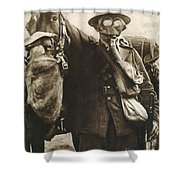 Wwi: Gas Warfare Shower Curtain