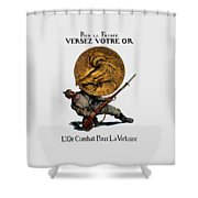 Wwi Gold For French Victory Shower Curtain