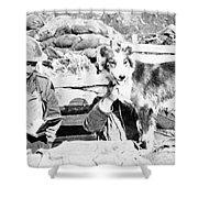 Wwi, Nell British Messenger Dog Shower Curtain