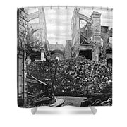 Wwi, Ruins Of Arras Cathedral Shower Curtain