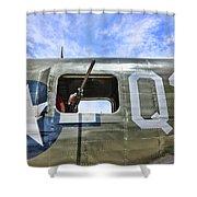 Wwii Aircraft Gun Window Shower Curtain