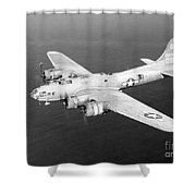 Wwii, Boeing B-17 Flying Fortress, 1940s Shower Curtain