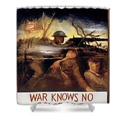 Wwii: Color Line Poster Shower Curtain