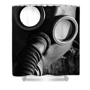 Wwii Gas Mask Shower Curtain