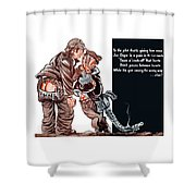 Wwii Joe Dope Cartoon Shower Curtain