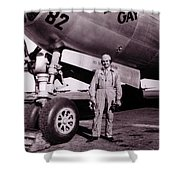 Wwii, Paul Tibbetts, Usaf Officer Shower Curtain