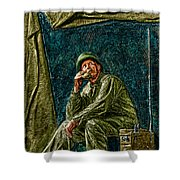 Wwii Radioman Shower Curtain