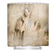 Wwii Tour Of Duty Pin-up Woman Shower Curtain