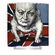 Wwii:churchill Poster 1942 Shower Curtain