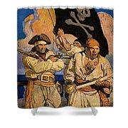 Wyeth: Treasure Island Shower Curtain