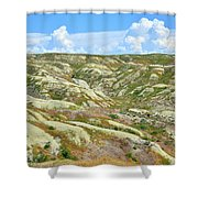 Wyoming Badlands Shower Curtain