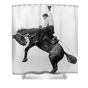 Wyoming: Cowboy, C1911 Shower Curtain
