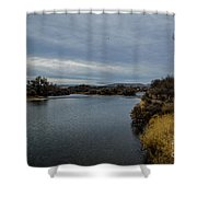 Wyoming Morning River Shower Curtain