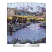Wyoming River Shower Curtain
