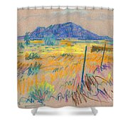 Wyoming Roadside Shower Curtain