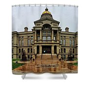 Wyoming State Capital Building  Shower Curtain