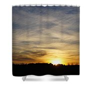 Wyoming Sunrise Shower Curtain