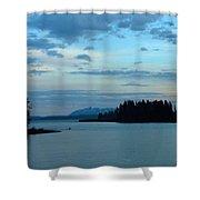 Wyoming Sunset Shower Curtain