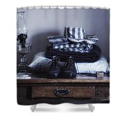 Wyoming Territorial Prison Processing Room Shower Curtain