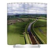 Wyre From The Air Shower Curtain