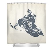 X Games Snowmobile Racing 3 Shower Curtain