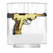 X-ray Art Of Walther P38 No. 4 Shower Curtain