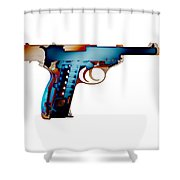 X-ray Art Of Walther P38 No.2 Shower Curtain
