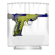 X-ray Art Of Walther P38 No.5 Shower Curtain