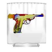 X-ray Art Of Walther P38 Shower Curtain