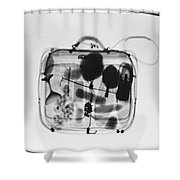 X-ray Of Suitcase Shower Curtain by Science Source