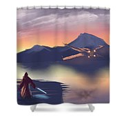 X-wing On The Horizon Shower Curtain