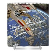 10105 X-wing Starfighter Shower Curtain
