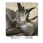 Xenoceratops Foremostensis Relaxing Shower Curtain