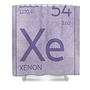 Xenon Xe Element Symbol Periodic Table Series 054 Shower Curtain