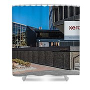 Xerox Tower Entrance Shower Curtain