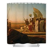 Xerxes At The Hellespont Shower Curtain by Jean Adrien Guignet