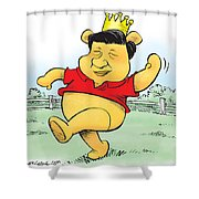 Xi The Pooh Shower Curtain
