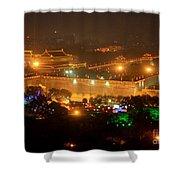 Xian City Lights Shower Curtain