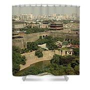 Xi'an City Wall With Skyline Shower Curtain