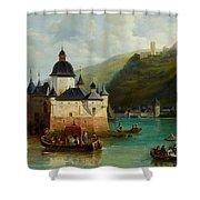Xixth Century French School Pfalzgrafenstein Castle Shower Curtain