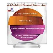 Xlsx Password Recovery Shower Curtain