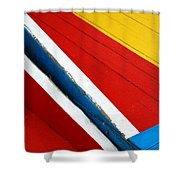 Xochimilco Boat Abstract 1 Shower Curtain