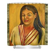 Xochitl Illustration  Shower Curtain