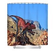 Xuanhanosarus In The Desert Shower Curtain