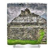 Xunantunich  El Castillo Shower Curtain